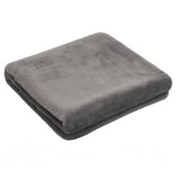 stradeXL Throw 100x150 cm Faux Rabbit Fur Dark Grey
