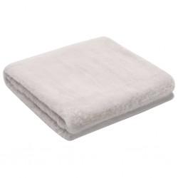 stradeXL Throw 100x150 cm Faux Rabbit Fur Grey