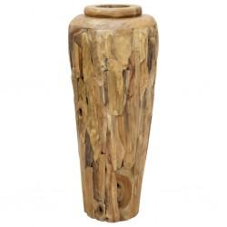stradeXL Wazon dekoracyjny, 40x100 cm, lite drewno tekowe
