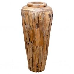 stradeXL Wazon dekoracyjny, 40x80 cm, lite drewno tekowe
