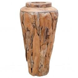 stradeXL Wazon dekoracyjny, 40x60 cm, lite drewno tekowe