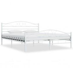 stradeXL Rama łóżka, biała, metalowa, 160 x 200 cm