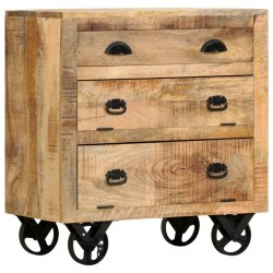 stradeXL Komoda na kółkach, 70x40x75 cm, lite drewno mango