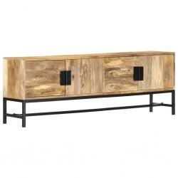 stradeXL Szafka pod telewizor, 140x30x50 cm, lite drewno mango