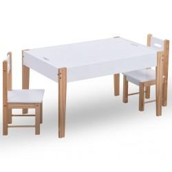 stradeXL 3-częściowy zestaw dla dzieci, stolik do rysowania i krzesła