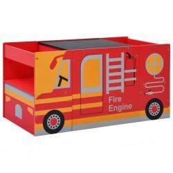 stradeXL 3-częściowy zestaw mebli dla dzieci, wóz strażacki, drewno