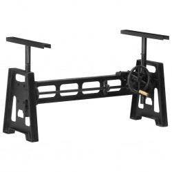 stradeXL Dining Table Base Height Adjustable 150x60x90 cm Cast Iron