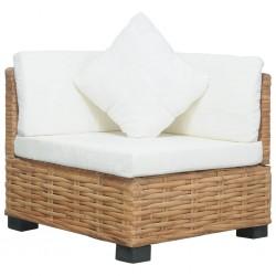 stradeXL Narożna sofa z poduszkami, naturalny rattan