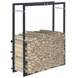 stradeXL Firewood Rack Black 80x25x100 cm Steel