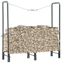 stradeXL Firewood Rack Anthracite 120x35x120 cm Steel