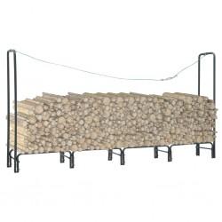 stradeXL Firewood Rack Anthracite 240x35x120 cm Steel