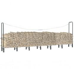 stradeXL Firewood Rack Anthracite 360x35x120 cm Steel