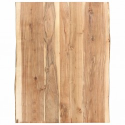stradeXL Blat, lite drewno akacjowe, 80x(50-60)x3,8 cm