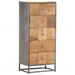 stradeXL Komoda, 45x30x100 cm, lite drewno z odzysku