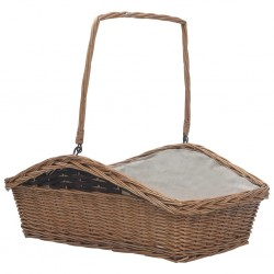 stradeXL Firewood Basket with Handle 61.5x46.5x58 cm Brown Willow