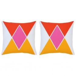 stradeXL Poduszki, 2 szt., z nadrukiem, kolorowe, 40x40 cm, bawełna