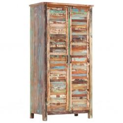 stradeXL Szafa, 90x50x180 cm, lite drewno z odzysku