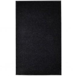stradeXL Door Mat Black 160x220 cm PVC
