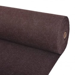 stradeXL Exhibition Carpet Rib 1.6x15 m Brown