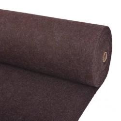 stradeXL Exhibition Carpet Rib 16x20 m Brown