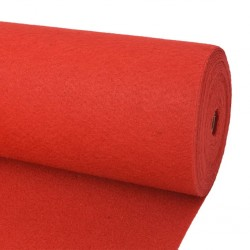 stradeXL Exhibition Carpet Plain 1.6x12 m Red