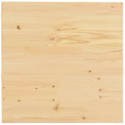stradeXL Table Top Natural Pinewood Square 60x60x2.5 cm