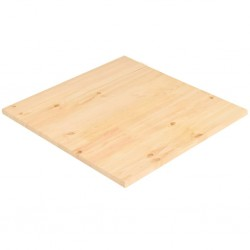 stradeXL Table Top Natural Pinewood Square 70x70x2,5 cm
