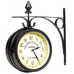 stradeXL Dwustronny zegar ścienny, 20 cm
