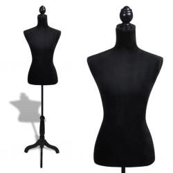 Ladies Bust Display Black Female Mannequin Female Dress Form
