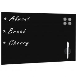 stradeXL Wall Mounted Magnetic Blackboard Glass 60x40 cm