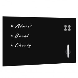 stradeXL Wall Mounted Magnetic Blackboard Glass 100x60 cm