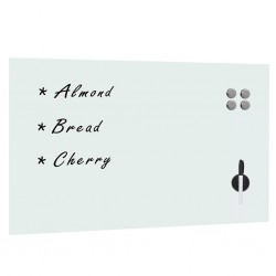 stradeXL Wall Mounted Magnetic Whiteboard Glass 100x60 cm