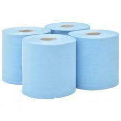 stradeXL 2-Ply Industrial Paper Wiper 4 Rolls 20 cm Blue
