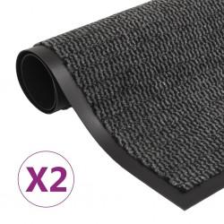 stradeXL Dust Control Mats 2 pcs Rectangular Tufted 90x150 cm Anthracite