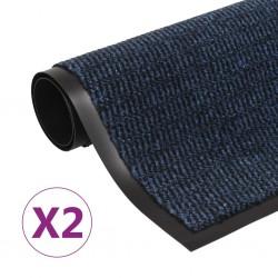 stradeXL Dust Control Mats 2 pcs Rectangular Tufted 120x180 cm Blue