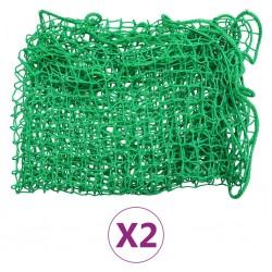 stradeXL Siatki transportowe, 2 szt., 2,5x3,5 m, PP