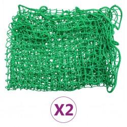 stradeXL Siatki transportowe, 2 szt., 2,5 x 4 m, PP
