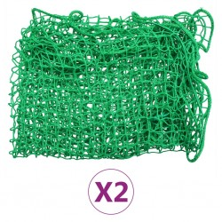 stradeXL Siatki transportowe, 2 szt., 2,5x4,5 m, PP