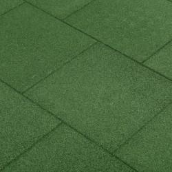 stradeXL Gumowe płyty, 12 szt., 50 x 50 x 3 cm, zielone