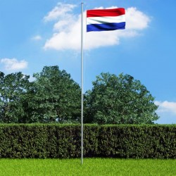 stradeXL Flaga Holandii z aluminiowym masztem, 6,2 m