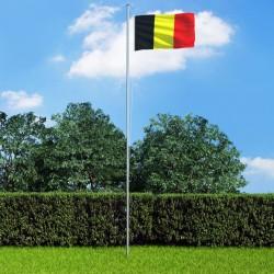 stradeXL Flaga Belgii z aluminiowym masztem, 6,2 m