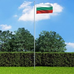 stradeXL Flaga Bułgarii z aluminiowym masztem, 6,2 m