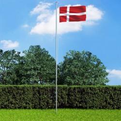 stradeXL Flaga Danii z aluminiowym masztem, 6,2 m