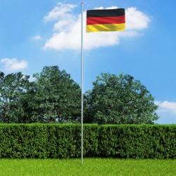 stradeXL Flaga Niemiec z aluminiowym masztem, 6,2 m