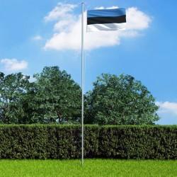stradeXL Estonia Flag and Pole Aluminium 6,2 m