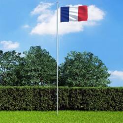 stradeXL Flaga Francji z aluminiowym masztem, 6,2 m