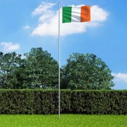 stradeXL Ireland Flag and Pole Aluminium 6,2 m