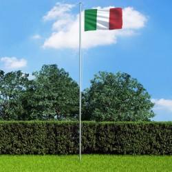 stradeXL Flaga Włoch z aluminiowym masztem, 6,2 m