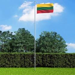 stradeXL Flaga Litwy z aluminiowym masztem, 6,2 m