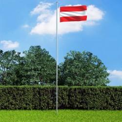 stradeXL Flaga Austrii z aluminiowym masztem, 6,2 m